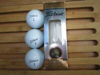 Golfbälle 3 x Titleist Nr. 1, 2, 3 Pro V1 392 Longer Distance * Logo PHILIPS NEU