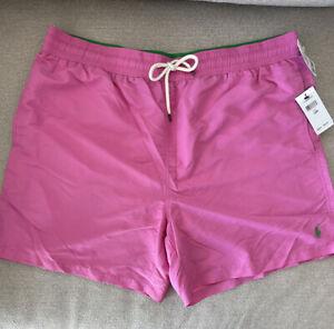 Polo By Ralph Lauren Men's Classic Pink Swim Trunks Size -1XB-NWT-$70