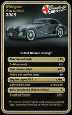 Morgan Aeromax Gumball 3000 Supersportwagen 2 Trumpf Karte #c14