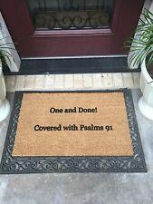 New NO FADE 18 x 30 Classic Indoor/Outdoor Coir Doormat