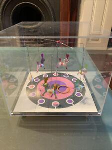 Rare Retro Jeco 1970s Carousel Table Clock