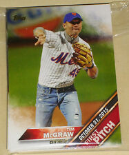 2016 TOPPS SERIES 1/& 2 /& UPDATE FIRST PITCH 50 CARD SET w GEORGE BUSH,McGRAW