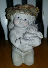 Dreamsicles cherub holding baby angel statue collectible