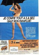Publicité Advertising   077  1989  Pressing 5 à sec