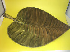 Metal Serving Platter,  Leaf Motif, Hand Crafted Plate/Tray