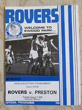 Il programma ufficiale di Blackburn ROVER & Preston 1979