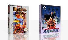 - Castlevania III Dracula Curse Nes Jeu Boîtier + Étui Art Seulement