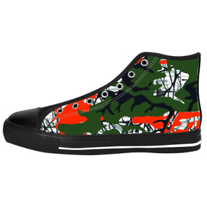 New Orange Green Camo Military Camouflage style Sneaker Shoes