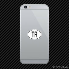 TR Turkey Country Code Oval Cell Phone Sticker Mobile Turkish euro