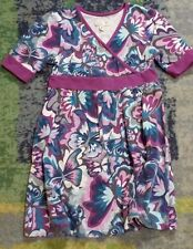 Girls Place 89 Multi-Color Butterfly Print Dress Sz 10