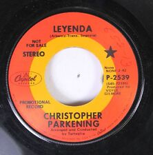 Pop Promo 45 Christopher Pakening - Leyenda / Clair De Lune On Capitol Records