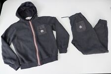 Moncler Grey Tracksuit Hoodie & Bottoms Age 10 Years Size 140 Cm Vgc Boys