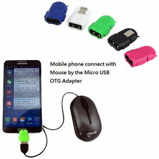 Mini OTG USB to Micro USB On The Go Adapter Data Transfer For PC Tablet Phone