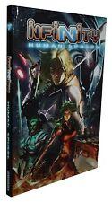 INFINITY-HUMAN SPHERE-Cyberpunk-Science Fiction-RPG-(HC)-engl.-new-very rare