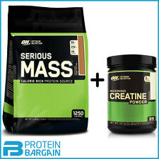 on Optimum Nutrition Serious Mass 5 4kg Weight Gainer Protein Banana