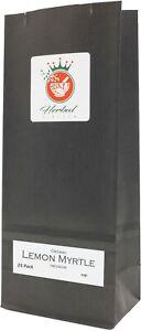 Organic Lemon Myrtle Pure Herbal Infusion (25 Tea Bags - Unbleached)