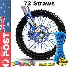 72pcs Bike Wheel Spoke Skin Cover Wrap Kit Motorcycle Motocross Dirt Bike AU