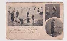 Vintage Postcard Atlantic City Tropicana Casino Kids on Beach 1906 ONE CENT