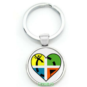 Key Ring Geocaching groundspeak Gift Heart Love Logo Ftf Swag