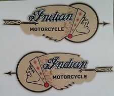 """""""INDIAN MOTORCYCLE"""" 2 X Vinyl Decal Sticker FUEL TANK SCOUT CHIEF HOG CAFE RACER"""