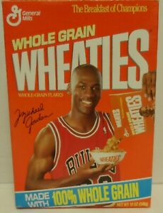 Wheaties Box Michael Jordan Pouring Cereal 1990, Series 86Z Empty Box 12oz
