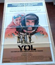 Yol Movie Poster, Original, Folded, One Sheet, year 1982, Printed in U.S.A.