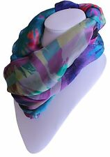 SCARF Wrap Shawl Long ✦ 100% SILK ✦ Rio Day Coco & Sebastian