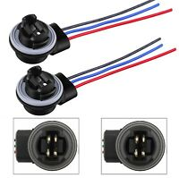 Universal Pigtail Wire Female Socket 3157 S Two Harness Front Turn Signal Lamp