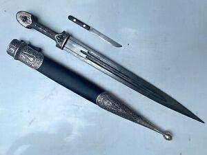 Caucasian Georgian Dagger Kindjal Sword Vintage Blade Knife