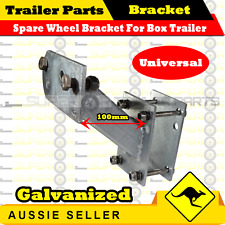 SPARE WHEEL BRACKET HOLDER CARRIER FOR BOX TRAILERS UNIVERSAL GALVANIZED small