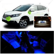 For Honda CRV 2007 - 2012 Blue LED Interior Kit + Xenon White License Light LED