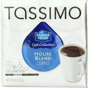 NIB 80 Tdisc Tassimo Maxwell House Blend Roast Arabica Coffee Brew Home FreeShip