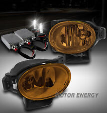 FOR 07-08 ACURA TL BUMPER DRIVING YELLOW FOG LIGHT W/50W 6K HID KIT LEFT+RIGHT