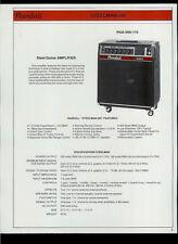 Randall RSA-500-115 Steelman Accordian 115 Guitar/Bass Amps Dealer Sheet Page