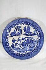 Moriyana Japan Blue Willow White Divided Dinner Plate #1