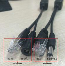 Passive Power Over Ethernet Poe Adapter Injector Splitter Kit 5v 12v 24v 48v