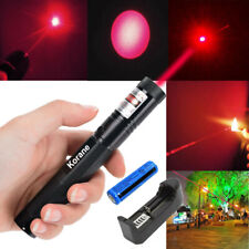 900Miles Red Laser Pointer Pen Visible Beam Rechargeable Lazer+Battery+Charger