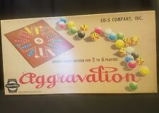 Aggravation Deluxe Party Edition Board Game Vtg 1960s CO-5 Company Complete