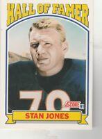FREE SHIPPING-MINT-1991 Score #671 Stan Jones Chicago Bears HALL OF FAMER