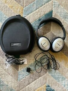 Bose QuietComfort 15 (QC15) Headphones (Silver/Black) with case and accessories