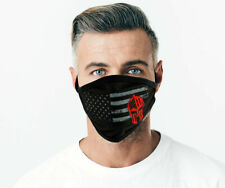 Protective Face Mask - Gladiator & Flag - Soft Cotton - With Tie Back BLACK