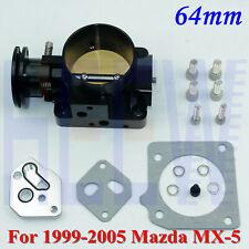 """For 99-05 Mazda Miata MX-5 1.8L L4 BP-4W BP-Z3 Billet 2.5"""" 64mm Throttle Body"""