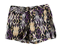 INC Beach Ikat Print Shorts Cotton Blend Stretch Pockets Women's Size 8 NWT