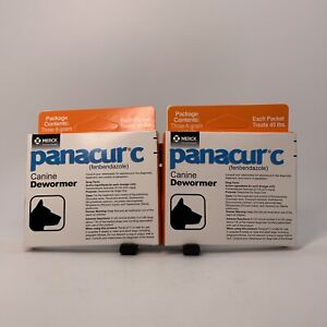 Panacur C Canine Dewormer Dogs 4g Each Packet Treats 40 lbs (3 Packets) (2 Pack)