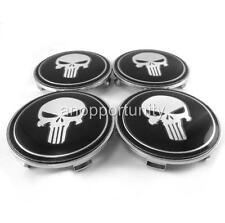 4 Pcs Wheel Center Hub Caps Skull Emblem 68mm Fit BMW 1 3 5 6 7 M X Z series VW
