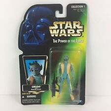 Star Wars Power of the Force Action Figure GREEDO Collection 1 Kenner 1996 New