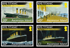 Ascension Is 2012 Titanic 4v set MNH