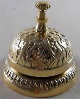 Solid Brass Victorian Style Desk Bell  Service Desk Bell Counter Bells Hotel