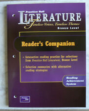 Prentice Hall LITERATURE Reader's Companion NEW workbook 2002,gr.7/7th Bronze lv