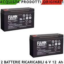 Accumulatore Batteria P/B Ermetica 6 V 12 Ah Antifurti 2 Pezzi Telefonia Auto